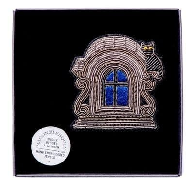 Dormer Window with Cat Brooch